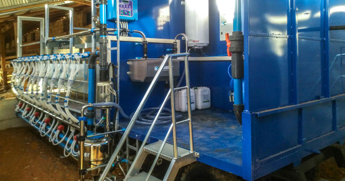 Movable Milking System at Marmaini Larisa, Model V-1488 with Multiflexion, 1×12/12